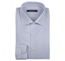 Camicia in cotone check, slim fit